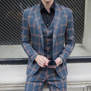 メンズスーツ 3点セット 即購入ok 送料込み 大人気 結婚式 司会者(セットアップ)