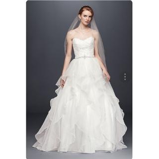 【新品 未使用 タグ付】ウエディングドレス インポートドレス フリルスカート