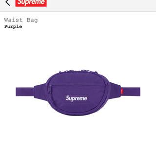 シュプリーム(Supreme)のsupreme waste bag purple 紫 ウエストバッグ 18aw(ボディーバッグ)