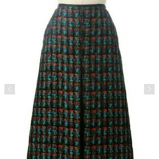 ドゥロワー(Drawer)のドゥロワー18AW ジャガードスカート 38 新品・未使用(ひざ丈スカート)