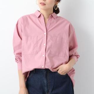レプシィム(LEPSIM)のLEPSIM/スキッパーポケツキムジシャツ/ピンク(シャツ/ブラウス(長袖/七分))