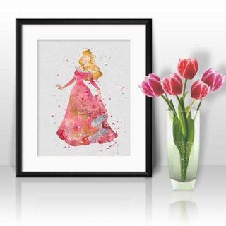 ディズニー(Disney)のオーロラ姫(眠れる森の美女)アートポスター【額縁つき・送料無料!】(ポスター)