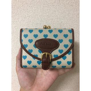 ポールスミス(Paul Smith)の新品未使用 ポールスミス 二つ折り財布 ハートプリン ハート柄 がま口(財布)