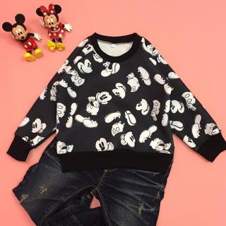 ディズニー(Disney)の☆ SALE 新品 ミッキー トレーナー 110cm ☆(Tシャツ/カットソー)