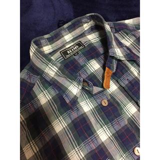 ビームス(BEAMS)のビームス 半袖チェックシャツ しわ加工 メンズM(シャツ)