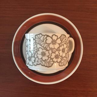 アラビア(ARABIA)のGefle ゲフレ アグネッタ カップ&ソーサー(グラス/カップ)