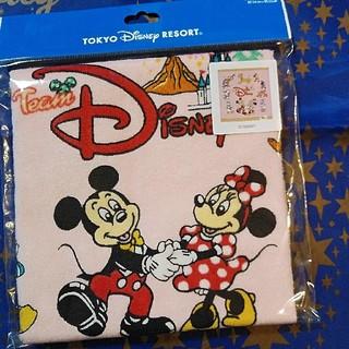 ディズニー(Disney)のディズニー★チームディズニー★ウォッシュタオル★ピンク(タオル/バス用品)
