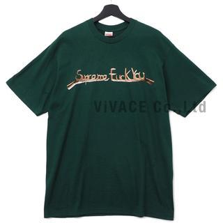 シュプリーム(Supreme)のSupreme Fuck You Tee 緑M(Tシャツ/カットソー(半袖/袖なし))