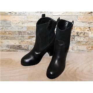 ラルフローレン(Ralph Lauren)の新品同様 ラルフローレン RALPH LAUREN ブーツ 黒 24,5cm(ブーツ)