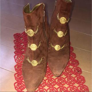 ヴァレンティノガラヴァーニ(valentino garavani)のVALENTINO GARAVANI ショートブーツ 茶色(ブーツ)