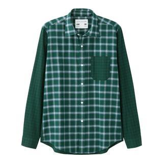 GU キムジョーンズ フランネルチェックカラーブロックシャツ KIM JONES