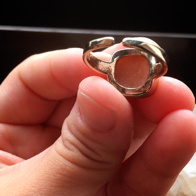 オレンジムーンストーン  リング レディースのアクセサリー(リング(指輪))の商品写真