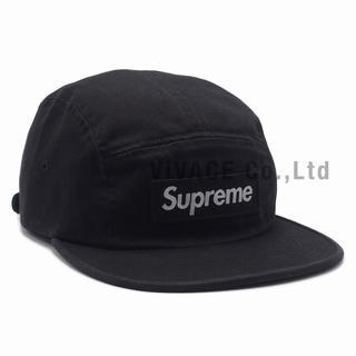 シュプリーム(Supreme)のSupreme Washed Chino Twill Camp Cap 黒(キャップ)
