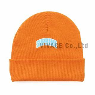 シュプリーム(Supreme)のSupreme Crown Logo Beanie オレンジ(ニット帽/ビーニー)