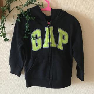 ベビーギャップ(babyGAP)の95㎝ GAP パーカー 黒 暖かい★ 上着にも!(ジャケット/上着)
