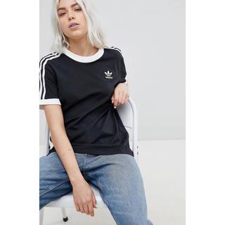 adidas - 【XLサイズ】新品 ブラック adidas★3ストライプ Tシャツ ユニセックス