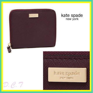 ケイトスペードニューヨーク(kate spade new york)の日本未入荷★ケイトスペード ラウンドジップ レザー 折り財布(財布)