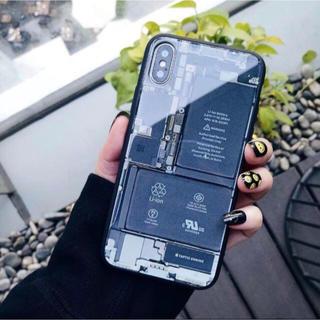 アイフォーン(iPhone)のセール スマホ内部構造 リアルデザイン 強化ガラスハードケース(iPhoneケース)