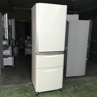 ミツビシ(三菱)の⭐️MITSUBISHI⭐️冷凍冷蔵庫 370L自動製氷美品 大阪市近郊配達無料(冷蔵庫)