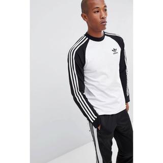アディダス(adidas)の【Lサイズ】新品未使用タグ付き adidas ロングスリーブ Tシャツ(Tシャツ/カットソー(七分/長袖))