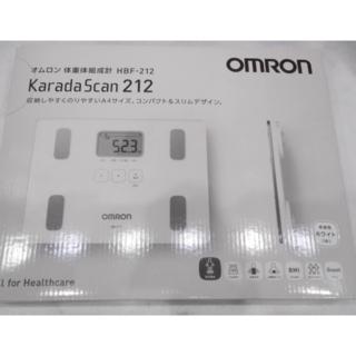 オムロン(OMRON)の【新品】オムロン 公式 体重体組成計 ホワイト HBF-212(体脂肪計)