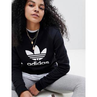 アディダス(adidas)の【 XLサイズ】新品未使用 adidas アディダス トレーナー ブラック(トレーナー/スウェット)