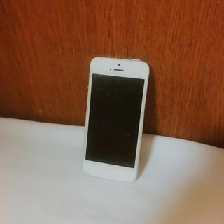 アイフォーン(iPhone)のiPhone5 シルバー ジャンク品(スマートフォン本体)