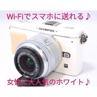 オリンパス(OLYMPUS)の◆Wi-Fi対応◆キュートなPENと一緒に出かけよう◆オリンパス E-P1  (ミラーレス一眼)