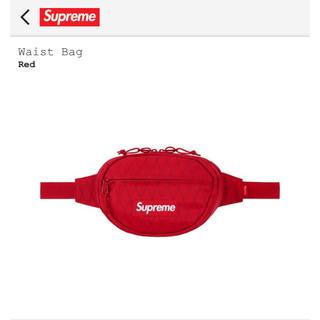 シュプリーム(Supreme)の【新品未使用】Supreme 18fw Waist Bag Red(ウエストポーチ)