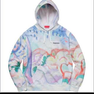 シュプリーム(Supreme)のsupreme landscape hooded sweatshirt Lサイズ(パーカー)