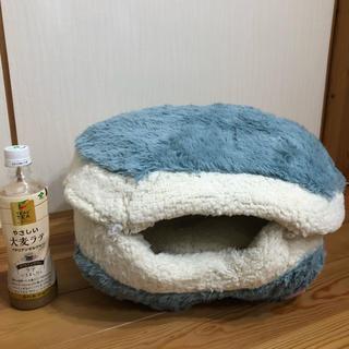 猫 ニャンともマカロンなベッド 冬用 ハウス モコモコ ぬくぬく あったか