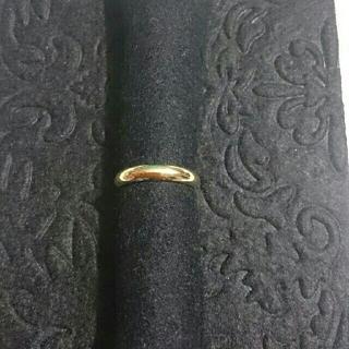 K18甲丸リング(リング(指輪))
