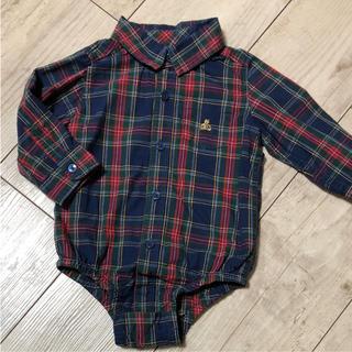 ベビーギャップ(babyGAP)の着用一度☆baby GAP シャツロンパース 70(ロンパース)