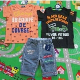 ミキハウス(mikihouse)の半額以下!!新品ブラックベアセット100(Tシャツ/カットソー)