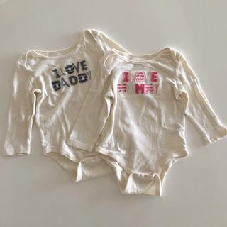 ベビーギャップ(babyGAP)のbaby gap 長袖ロンパース 2枚セット(ロンパース)