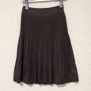 ニジュウサンク(23区)の美品 23区 フェイクスェード プリーツ スカート(ひざ丈スカート)