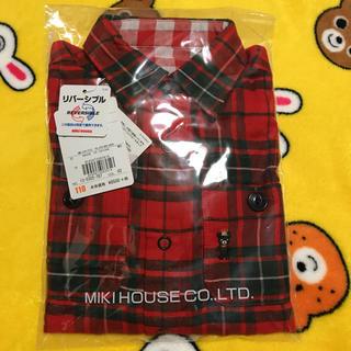 ミキハウス(mikihouse)のMIKI HOUSE☆リバーシブル シャツ110(Tシャツ/カットソー)