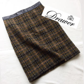 ドゥロワー(Drawer)のDrawer♡ミックスツイードジャガードスカート(ひざ丈スカート)
