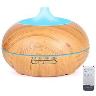 アロマディフューザー 550ml リモコン付き 超音波式 卓上加湿器 静音