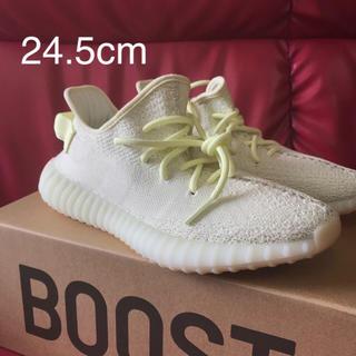 アディダス(adidas)の新品未使用 本物 yeezyboost350V2 24.5cm アイスイエロー(スニーカー)