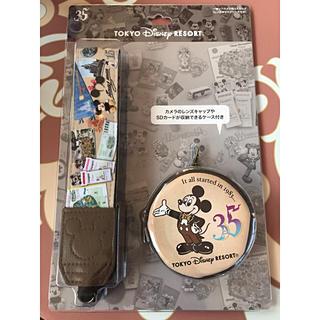 ディズニー(Disney)の入手済・新品未開封❤️カメラストラップ ディズニー 35周年(キャラクターグッズ)