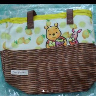 ディズニー(Disney)の新品♡  プーさん  保冷バッグ  クーラーバッグ  レモン  籠風(弁当用品)