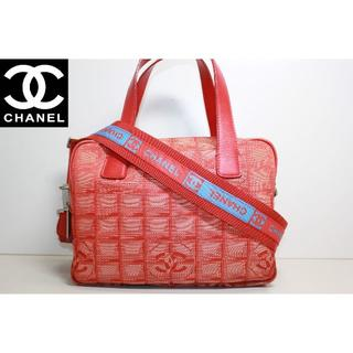 シャネル(CHANEL)のシャネル ニュートラベルライン 2WAY ショルダーバッグ ハンドバッグ 赤(ショルダーバッグ)
