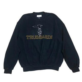トラサルディ(Trussardi)の新品未使用 Vintage TRUSSARDI グレイハウンド ロゴ スウェット(スウェット)