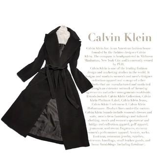 カルバンクライン(Calvin Klein)の 最高級 美品 カルバンクライン モダンガウンコート セレカジスタイル 送料無料(ガウンコート)