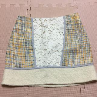 マーキュリーデュオ(MERCURYDUO)のマーキュリーデュオ ツイードスカート(ミニスカート)