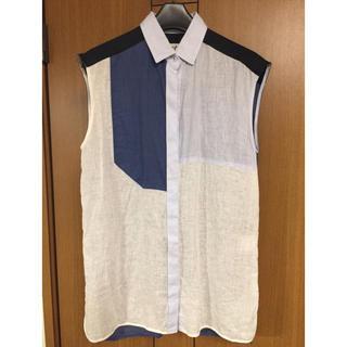 エンフォルド(ENFOLD)のENFOLDリネンシャツ38(シャツ/ブラウス(半袖/袖なし))