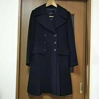 オペーク(OPAQUE)のラクダ毛×ウールの暖かいロングコート 黒  Content Contenu (ロングコート)