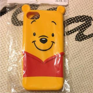 ディズニー(Disney)のプーさんのiPhoneケース シリコン(iPhoneケース)
