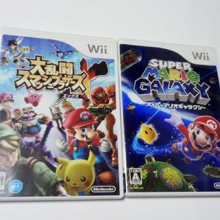 ウィー(Wii)の大乱闘スマッシュブラザーズX、スーパーマリオギャラクシーセット(家庭用ゲームソフト)